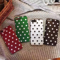 2017 Hot Polka Dots Soft Case for iPhone 7 7 plus 6 6plus TPU Gel Back Case IMD Phone Cover -04410