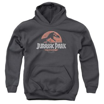 Jurassic Park - Faded Logo Youth Pull Over Hoodie