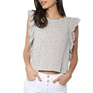 Sunday Stevens Mini Star Ruffle Top