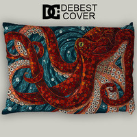 Fashion Pillow Cover Custom Octopus Mosaic Design Home Decorative Pillowcase Pillow Case Cover 20*30