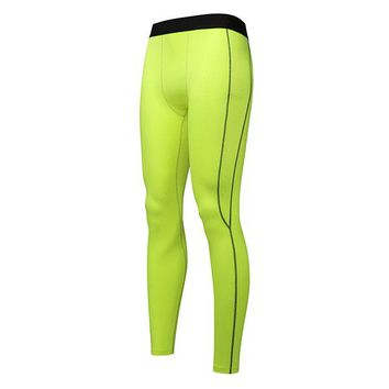Mens Quick Dry Sports Jogging Tights Gym Pants Bodybuilding Skinny Legging Trousers
