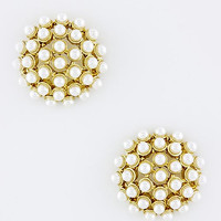 Haley Pearl Dome Studs