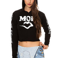 The Mob x 40 OZ Cropped Hoodie in Black