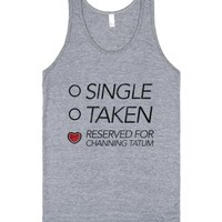Reserved For Channing Tatum (tank)-Unisex Athletic Grey Tank