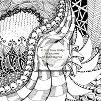 Colouring Sheet Zen Doodle Instant Download pdf Abstract Art Zentangle Inspired. 'Silk'