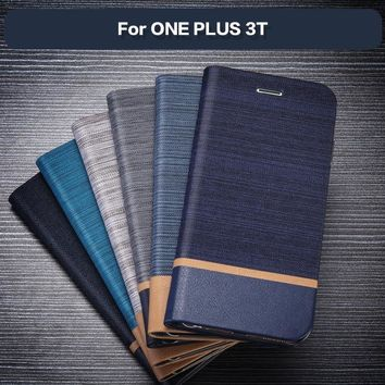 Pu Leather Phone Case For Oneplus 3T Flip Book Case Soft Silicone Back Cover For Oneplus 3 Business Wallet Card Slot Case