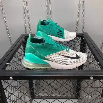 nike air max 270 flyknit unisex casual fashion multicolor half air cushion running shoes couple sneakers-1