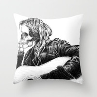 Kurt Cobain Throw Pillow by Motohiro NEZU | Society6