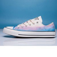 """""""Converse"""" Fashion Canvas Flats Sneakers Sport Shoes Low tops BLUE printing"""