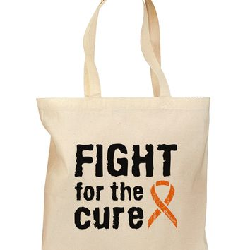 Fight for the Cure - Orange Ribbon Leukemia Grocery Tote Bag
