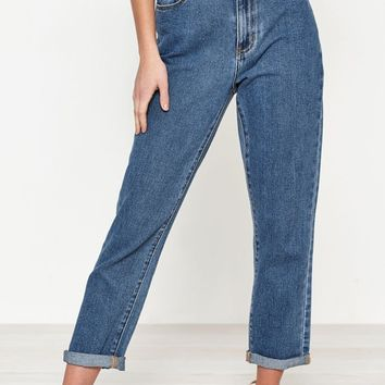 PacSun Mum Blue Mom Jeans at PacSun.com