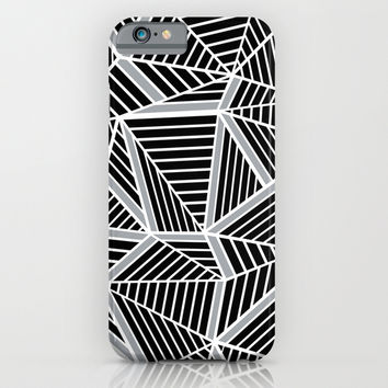 Ab lines Zoom Black and Silver iPhone & iPod Case by Project M
