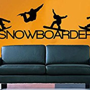 Wall Decal Vinyl Sticker Decals Art Decor Design Snowboarding Snowboarder Play room Game Kids Children Sport Extrime Bedroom Nursery (r1020)