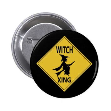 Witch Xing Pinback Button