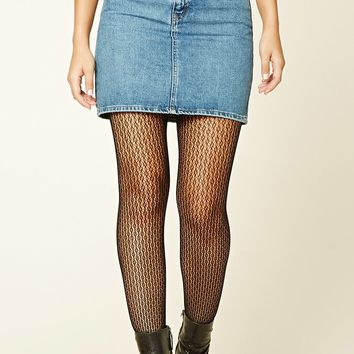 Open-Knit Tights