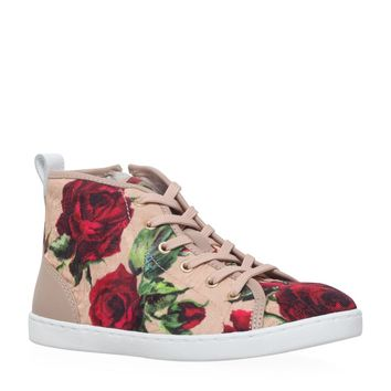 Dolce & Gabbana Floral High Top Sneaker | Harrods