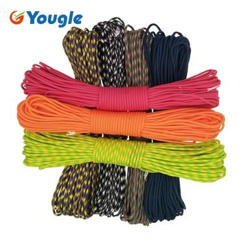 YOUGLE Paracord 550 Parachute Cord Lanyard Rope Mil Spec Type III 7 Strands 100FT Climbing Camping survival equipment 39-45