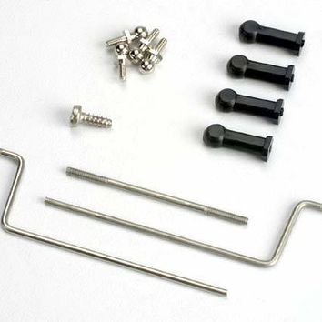 1532 - Outdrive connecting rod/nylon ball connector ends (4)/chrome ball connectors (4)/steering servo rods (2)/ steering servo horn with 2.6 x 8mm screw