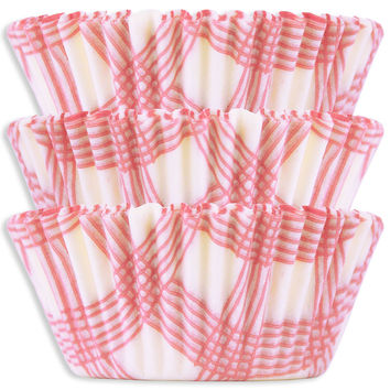 Pink Picnic Plaid Baking Cups