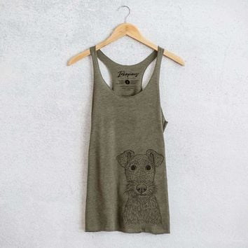 Fitz the Wire Fox Terrier - Tri-Blend Racerback Tank Top