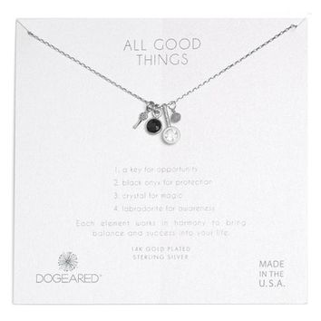 Dogeared All Good Things Onyx Necklace | Nordstrom
