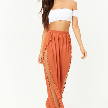 Pom Pom Swim Cover-Up Pants