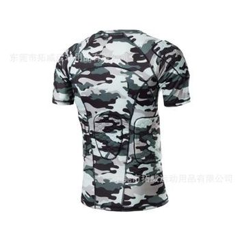 Camouflage Bike Bicycle Jersey Basketball Breathable High Elastic Short Sleeves Protection Clothing Roller Skate Cycling Jersey