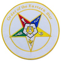 Order of the Eastern Star Patch Center Iron on oes Patch for Biker Vest CP193