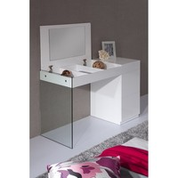 Calmar Modern Floating Glass Vanity with Mirror