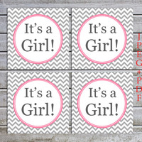 Printable Girl Baby Shower Labels Tags Cupcake Toppers Favors Baby Shower Decorations (50-1) - instant download