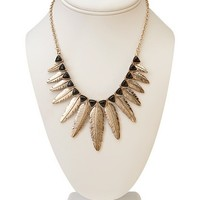 Feathered Fringe Choker