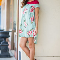 Floral Philosophy Dress, Mint