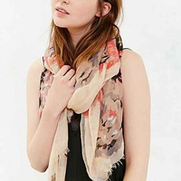 Botanical Floral Scarf- Neutral Multi One