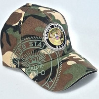 U.S. Navy Military Hats Baseball Cap Camouflage Hat 3D Embroidery (Pack of 1)