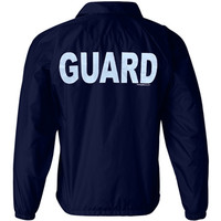 Nylon Lined Guard Jacket #390 390 wind jackets guard apparel raingear rain gear rain coats raincoats guard jackets lifeguard jackets