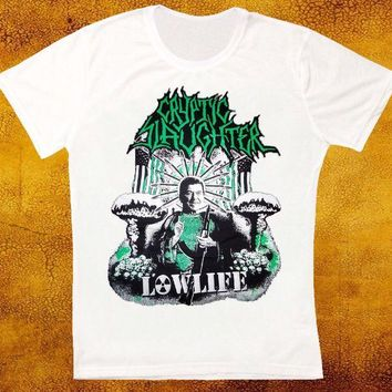 LMFXT3 CRYPTIC SLAUGHTER LOWLIFE TRASH RETRO VINTAGE HIPSTER UNISEX T SHIRT Hip Hop Novelty T-Shirts Men'S Brand Clothing Top Tee