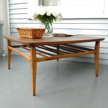 Lane Coffee Table Square Mid Century Modern Danish L