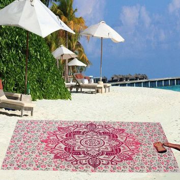 DCCKJG2 Beach Towel Yoga Mat Blanket Table Cloth Bohemia Indian Tapestry Bedspread Wall Hanging Bohemian Ethnic  Decor