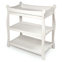 Badger Basket Sleigh Style Changing Table (White)