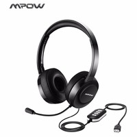 Wired Noise Cancelling Headphones With Microphone