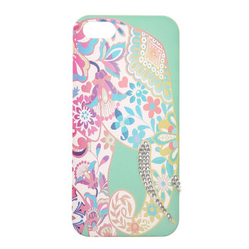 Mint Elephant Pattern Phone Case - iPhone 5/5S
