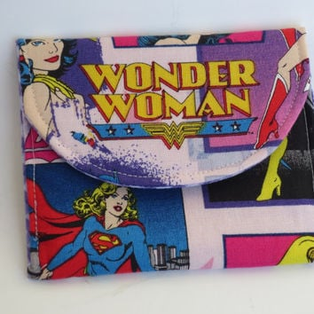 Wonder Woman - Wallet - Business Card Holder - Money debit card holder - Wonder Woman wallet