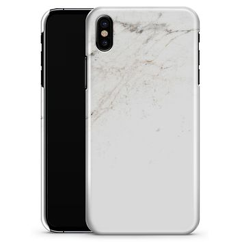 Off-White Grunge Marble Surface - iPhone X Clipit Case