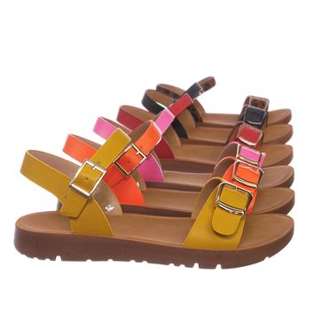 Reform9k Girl Children Comfort Flat Sandal - Kids Size Open Toe Shoe