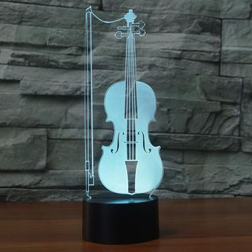 Violin Instrument 3D LED Lamp