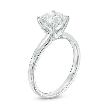 2 CT. Certified Diamond Solitaire Engagement Ring in 14K White Gold (I/SI2)|Zales