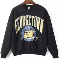 "Black ""GEORGETOWN UNIVERSITY"" Sweatshirt"