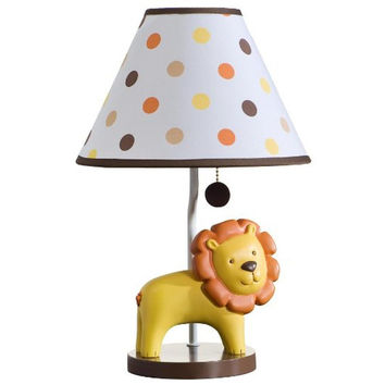 Carters Sunny Safari Lion Baby Boy Lamp with Shade
