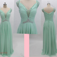 Mint homecoming dress - long green prom dress / mint evening dress / long evening dress / long prom dress / homecoming dress for juniors