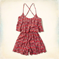 Patterned Tier Romper